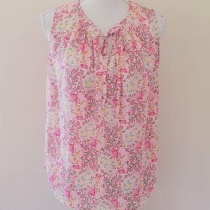Violet & Claire floral paisley blouse size small